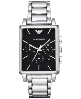 Emporio Armani Men's Chronograph Stainless Steel Bracelet Watch 41x34mm AR1850