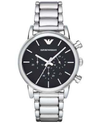 Emporio Armani Men's Chronograph Stainless Steel Bracelet Watch 41mm AR1853