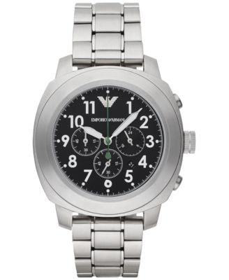 Emporio Armani Men's Chronograph Stainless Steel Bracelet Watch 46mm AR6056