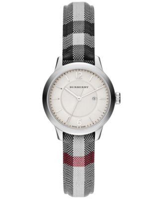 Burberry Women's Swiss Stone Check Fabric Strap Watch 32mm BU10103