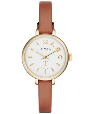 Marc by Marc Jacobs Women's Sally Tan Leather Strap Watch 28mm MBM1351