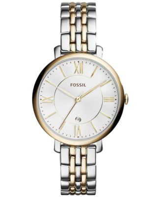 Fossil Women's Jacqueline Two-Tone Stainless Steel Bracelet Watch 36mm ES3739