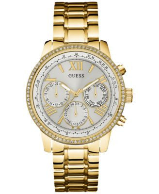 GUESS Women's Gold-Tone Stainless Steel Bracelet Watch 42mm U0559L2