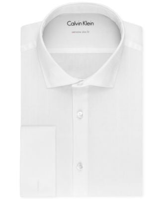 Calvin Klein X Men's Extra Slim-Fit French Cuff Tuxedo Shirt
