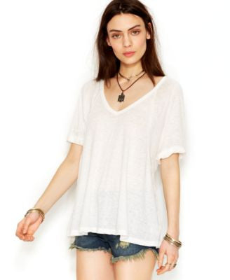 Free People Free Falling Shirttail V-Neck Tee