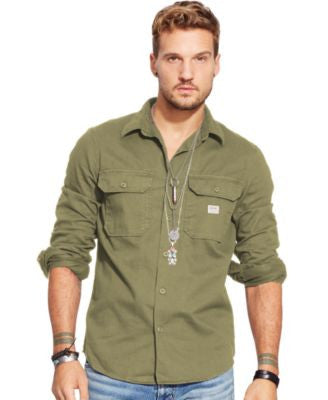 Denim & Supply Ralph Lauren Men's Twill Military Shirt