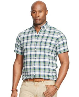 Polo Ralph Lauren Men's Big and Tall Short-Sleeve Madras Shirt