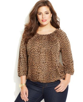 MICHAEL Michael Kors Plus Size Blouson Top