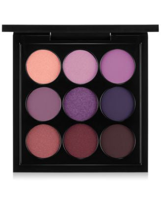 MAC Eye Shadow Palette, Purple x 9