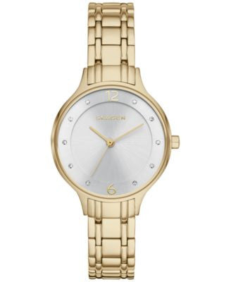 Skagen Women's Anita Gold-Tone Stainless Steel Bracelet Watch 30mm SKW2322