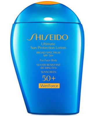 Shiseido Ultimate Sun Protection Lotion SPF 50+ WetForce, 3.3 oz