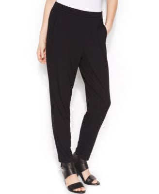 Eileen Fisher Pull-On Tapered Soft Ankle Pants
