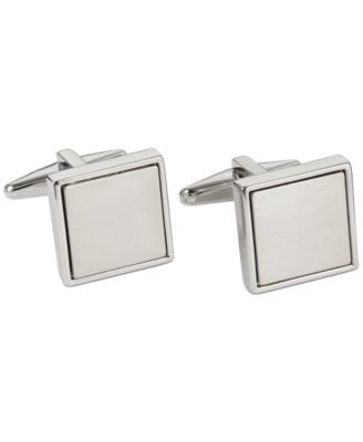 Kenneth Cole Reaction Polished Square with Brushed Center Cufflinks