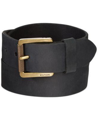 Tommy Hilfiger Black Belt With Roller Buckle