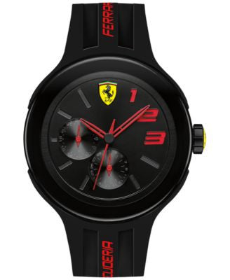 Scuderia Ferrari Men's FXX Black Silicone Strap Watch 46mm 830223