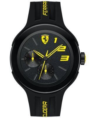 Scuderia Ferrari Men's FXX Black Silicone Strap Watch 46mm 830224