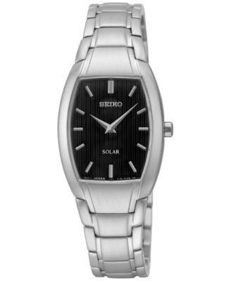 Seiko Women's Solar Stainless Steel Bracelet Watch 23mm SUP259