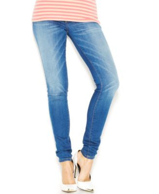 GUESS Power Curvy Mid-Rise Chula Vista Wash Skinny Jeans