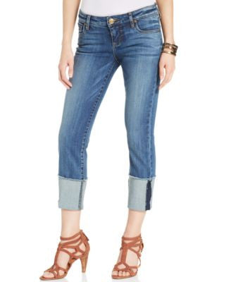 Kut from the Kloth Cameron Boyfriend Straight-Leg Cuffed, Fervent Wash