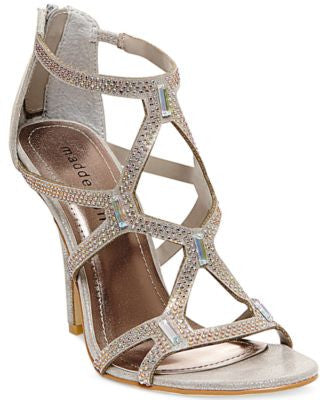 Madden Girl Digitize Caged Rhinestone Dress Sandals