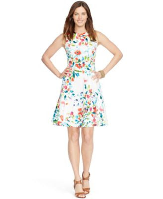 American Living Sleeveless Floral-Print Dress
