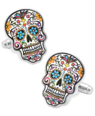 Cufflinks Inc. Day of the Dead Skull Cufflinks