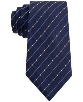 Geoffrey Beene City Grid Extra Long Tie