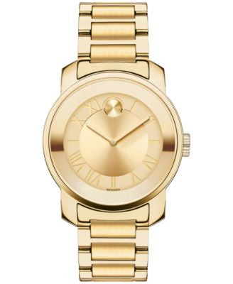 Movado Women's Swiss Bold Gold Ion-Plated Stainless Steel Bracelet Watch 32mm 3600323
