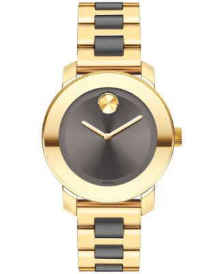 Movado Women's Swiss Bold Two-Tone Stainless Steel Bracelet Watch 36mm 3600338