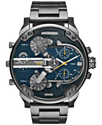 Diesel Men's Mr. Daddy 2.0 Gunmetal Ion-Plated Stainless Steel Bracelet Watch 57mm DZ7331
