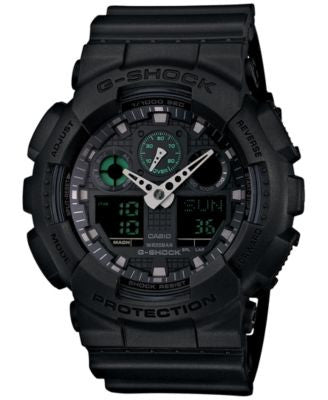 G-Shock Men's Analog-Digital Black Resin Strap Watch 55x52mm GA100MB-1A