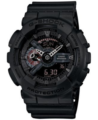 G-Shock Men's Analog-Digital Black Resin Strap Watch 55x52mm GA110MB-1A