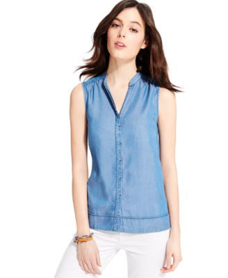 Tommy Hilfiger Indigo Wash Sleeveless Top