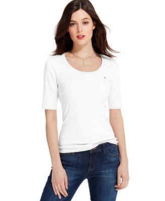 Tommy Hilfiger Favorite Flag Scoop-Neck T-Shirt