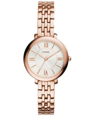 Fossil Women's Jacqueline Rose Gold-Tone Stainless Steel Bracelet Watch 26mm ES3799