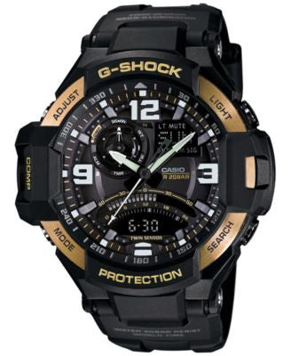 G-Shock Men's Analog-Digital Gravitymaster Black Resin Strap Watch 51x52mm GA1000-9G