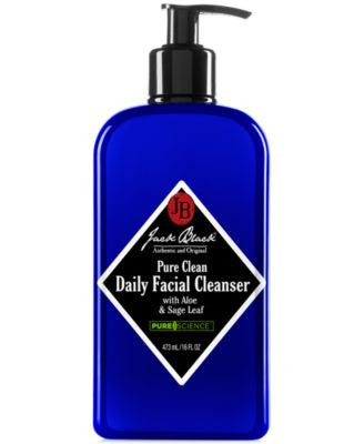 Jack Black Pure Clean Daily Facial Cleanser with Aloe & Sage Leaf, 16 oz