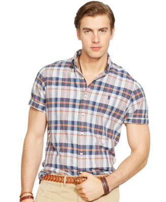 Polo Ralph Lauren Men's Short-Sleeved Madras Shirt