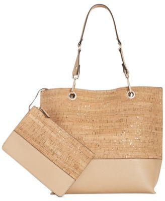 Calvin Klein Cork Tote with Pouch