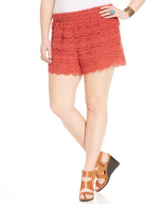 American Rag Trendy Plus Size Crochet Shorts