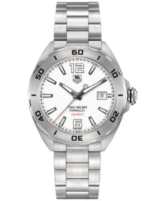 TAG Heuer Men's Automatic Formula 1 Calibre 5 Stainless Steel Bracelet Watch 41mm WAZ2114.BA0875
