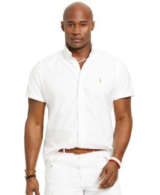 Polo Ralph Lauren Men's Big and Tall Short-Sleeved Oxford Shirt