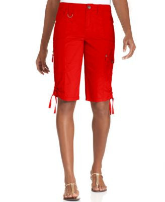 Style & Co. Tummy-Control Cargo Bermuda Shorts, Only at Vogily