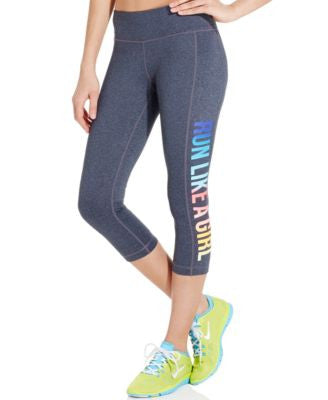 Ideology Graphic-Print Capri Leggings
