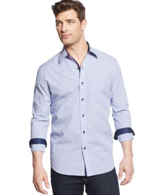 Tasso Elba Men's Long-Sleeve Check Shirt