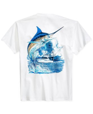 Guy Harvey Marlin Boat Pocket T-Shirt