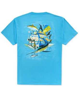 Guy Harvey Oil Rig Pocket T-Shirt