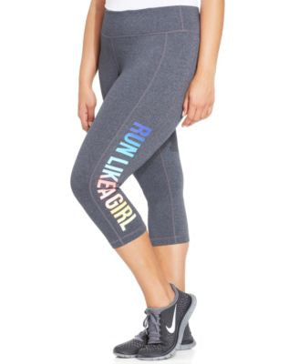 Ideology Plus Size Graphic Capri Leggings