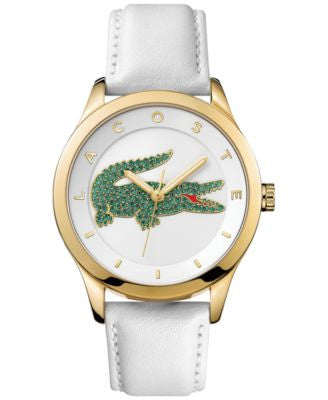 Lacoste Women's Victoria White Leather Strap Watch 40mm 2000894