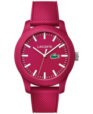 Lacoste Men's Lacoste.12.12 Pink Silicone Strap Watch 43mm 2010793